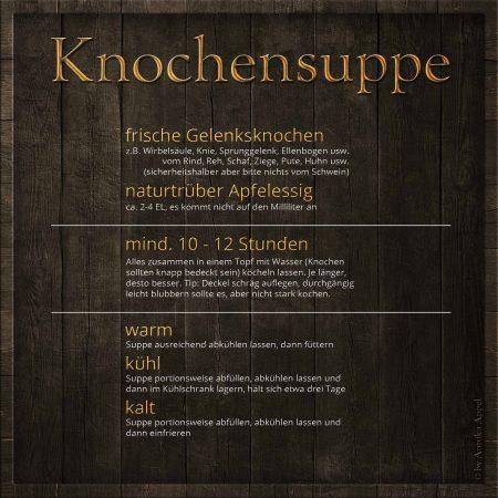 Knochensuppe-Futterblatt